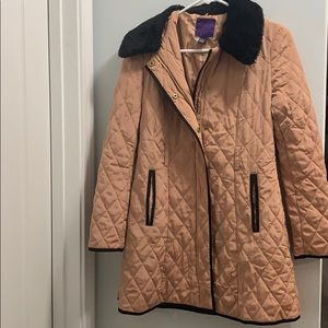 Blush and Black Winter Coat/Trench Coat size Sm